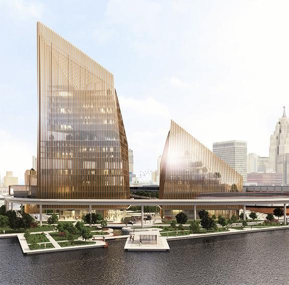I vincitori del Detroit Waterfront District contest 3