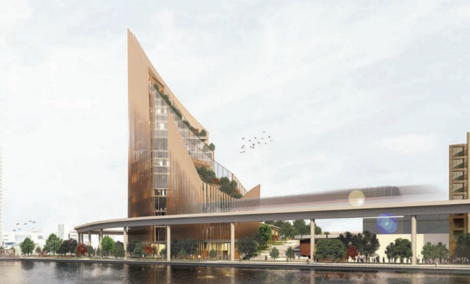 The winners of the Detroit Waterfront District contest